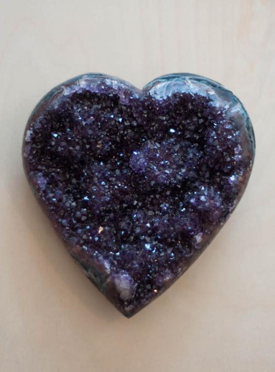Uruguay Amethyst Geode Heart #2