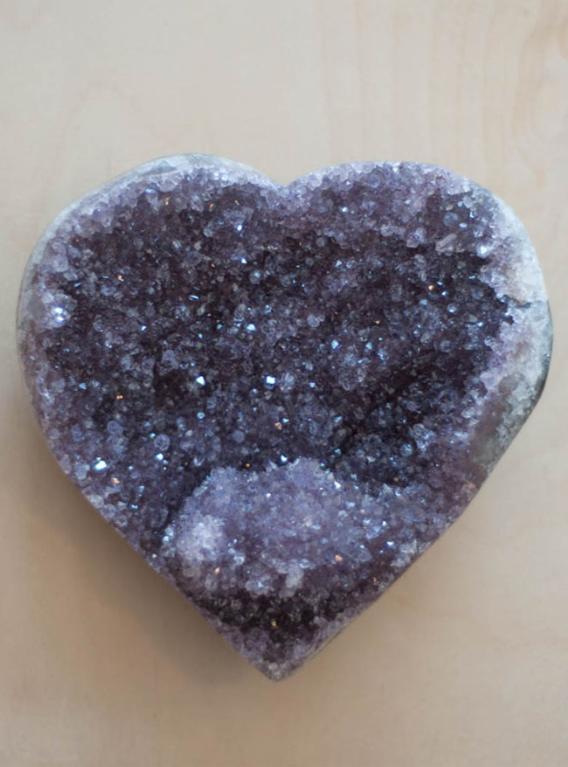 Uruguay Amethyst Geode Heart #20