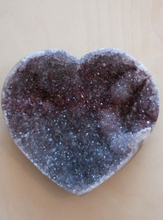 Uruguay Amethyst Geode Heart #3