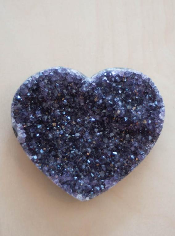 Uruguay Amethyst Geode Heart #39