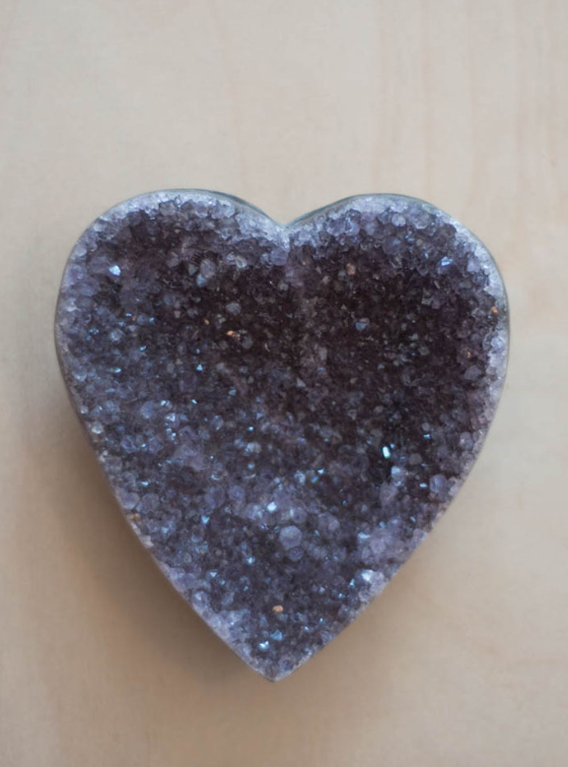 Uruguay Amethyst Geode Heart #45