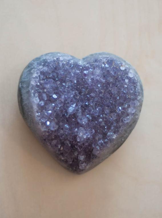 Uruguay Amethyst Geode Heart #47